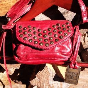 FRYE Studded Leather Crossbody